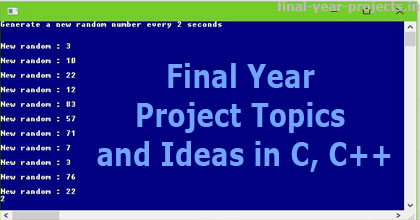 major project topics for computer science